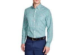 Gingham Vs Plaid Vs Tartan Vineyard Vines Tucker Heathered Gingham Slim Fit Button Down Shirt