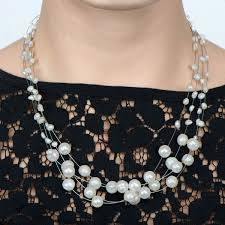 freshwater necklace images Floating freshwater cultured pearl necklace earring set 18 inches jpg
