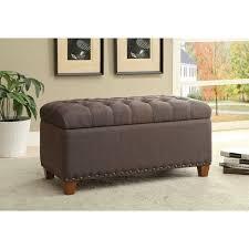 Mocha Ottoman Zoe S Furniture Coaster Ottoman Tufted Storage Bench In Mocha