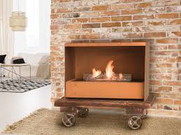 corten fireplace gustav commerce by planika