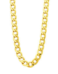 mens gold curb necklace images Gold fusion chain men 39 s 55cm curb chain 754393 salera 39 s png