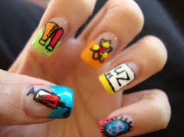 bow ties and barrettes nail designs