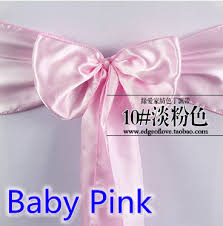 cheap chair sashes wholesale bow tie satin sashes bow tie baby pink colour shiny