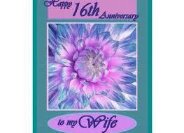 16th wedding anniversary gifts 15 16th wedding anniversary gift happy 16th anniversary zazzle
