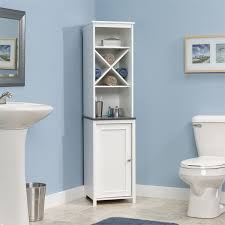 free standing bathroom storage ideas white corner tower cabinet bathroom with caraway storage ideas and