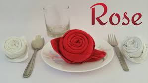 paper napkin flower tutorial how to make a rose using table napkin handkerchief for valentine s