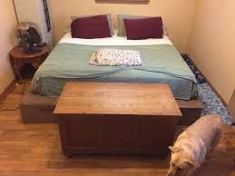 How To Make A Platform Bed Frame With Pallets by King Size Pallet Bed Project 6 Steps With Pictures