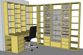combin bureau biblioth que fabrication bibliothèque et bureau d angle sur mesure en bois