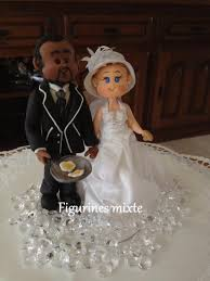 figurine mariage mixte figurines pour gâteau de mariage