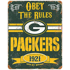 amazon com nfl football greenbay packers logo vintage obey rules
