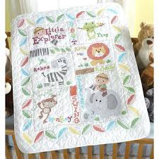 an easy handmade baby quilt baby quilt embroidery blanks