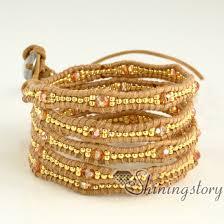 double wrap bracelet images Leather wrap bracelet wholesale popular bracelets beaded double jpg
