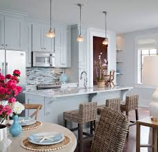 Beach House Decorating Ideas Kitchen Light Blue Kitchen Cabinets Grayton Beach Carriage House By