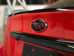 custom subaru emblem 2015 2018 subaru wrx sti impreza emblem overlay rawvinylworks