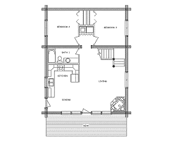 Log House Plans Log Home Floor Plan Base Camp