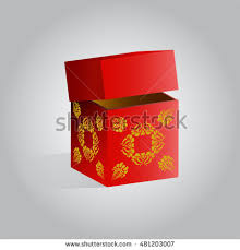 new year box happiness packet new year stock vector 311621753