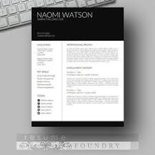 resume template cv template cover letter for by resumefoundry