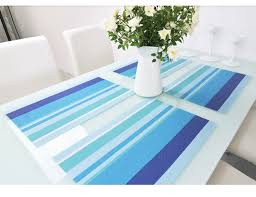 striped design pvc place mats spacitecture
