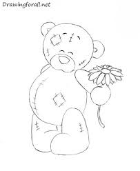 coloring page teddy bears drawing stock vector bear 490808788