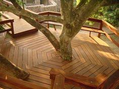 Patio Around Tree Deck Seating Around Tree Great For Tree By The Playhouse U0026 Board