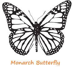 printable monarch butterfly coloring coloringpagebook