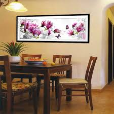aliexpress com buy diy handmade pink magnolia counted cross