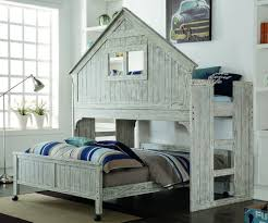 Donco Bunk Bed Size Club House Low Loft Bed In Brushed Driftwood Finish 007d