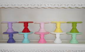 pedestal cake stand wood cupcake or mini cake stand pedestal choose your color