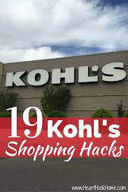 19 secret shopping hacks for saving money at kohl u0027s