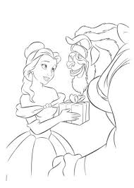 beauty beast disney coloring pages coloring pages kids