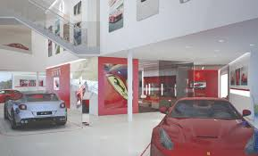 ferrari dealership showroom cauley ferrari portfolio inform studio