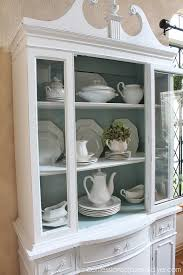 White Painted Furniture Shabby Chic by Shabby Chic Painted White China Cabinet Hometalk
