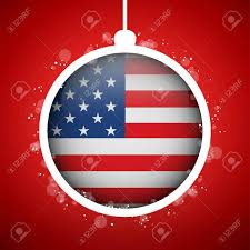 vector merry with flag usa royalty free