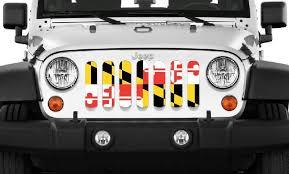 Rugged Ridge Grille Inserts Jeep Jk Maryland Flag
