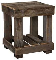 Natural Wood End Tables Barnwood End Table Farmhouse Side Tables And End Tables By