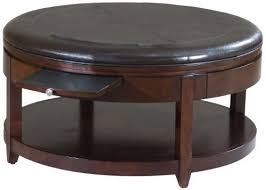 fabulous round leather coffee table best 10 round leather coffee
