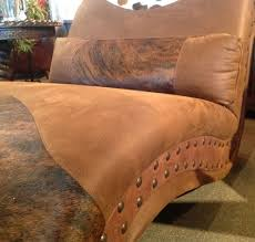 Rustic Chaise Lounge Cowhide Chaise Lounge Western Chaise Rustic Furniture