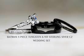 batman wedding bands batman wedding ring set wedding corners