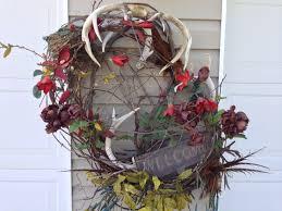 deer antlers wreath my house pinterest deer antlers deer