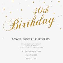 free printable 40th birthday invitation templates greetings island