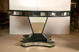 Mirrored Dining Room Tables Mid Century Mirrored Pedestal Base Dining Table At 1stdibs