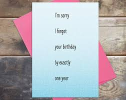 forgot your birthday etsy