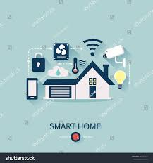 vector concept smart house technology system stock vector