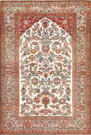 Kashan Persian Rugs by Antique Persian Wool And Silk Prayer Design Kashan Oriental Rug