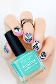 throwback thursday aztec nail design for short nails aztec nail