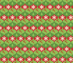 tessellating ornaments with trees snowflakes and