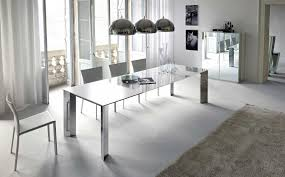 modern white nuance inteiror dining room of the modern classic