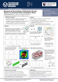 masters dissertation posters 2017 master thesis poster numerical simulation of modelled blood cells in