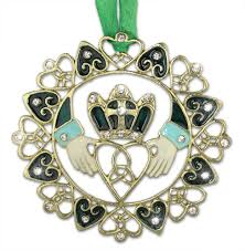 amazon com irish ornament gold filigree metal claddagh ornament