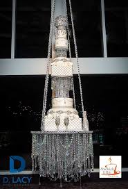 Wedding Chandelier Baked A Chandelier Wedding Cake That Hangs From